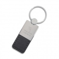 Metal Leatherette Key Ring